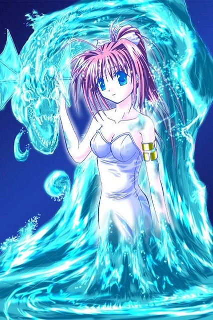 water magic dragon girl - photo #12