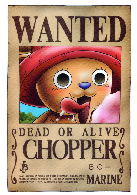 ChopperOne Piece Luffy Wanted Posters