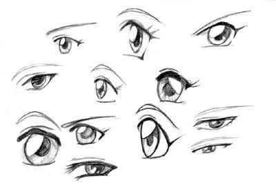 Here Are A Variety Of Other Styles Female Eyes You Can Make Using The Same Methods Try To See Differences Between Each Style As Well