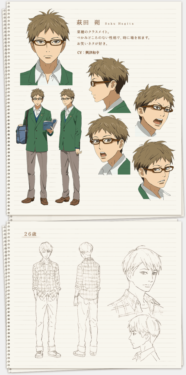 Orange Anime Introduces Male Leads Along With More Character Design Previews