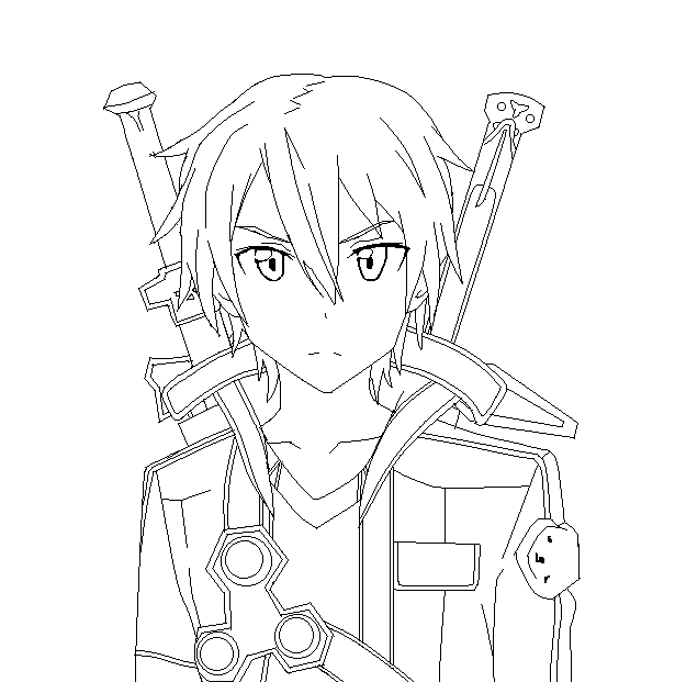 Crunchyroll Forum Sword Art Online Kirito Drawing
