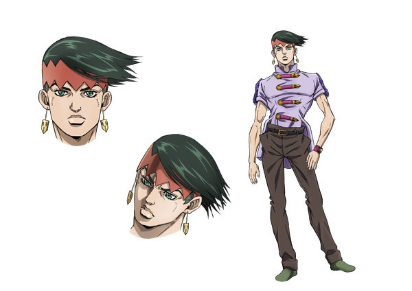 Crunchyroll jojo 39 s bizarre adventure ova previewed for Rohan design