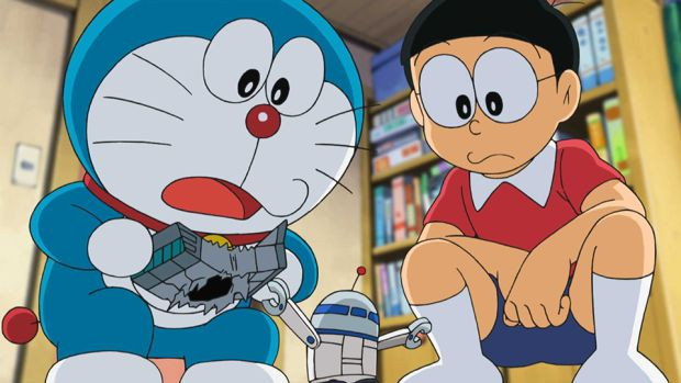 Anime Doraemon For The First Time In A Special TV Episode That Adapts Popular Tenjo Ura No Uchu Senso Space War Above Ceiling Storyline