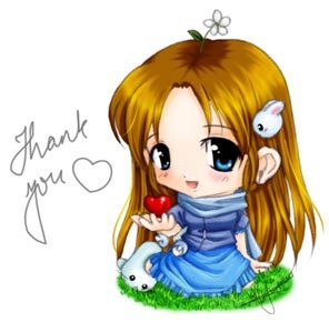 Image result for thank you anime chibi