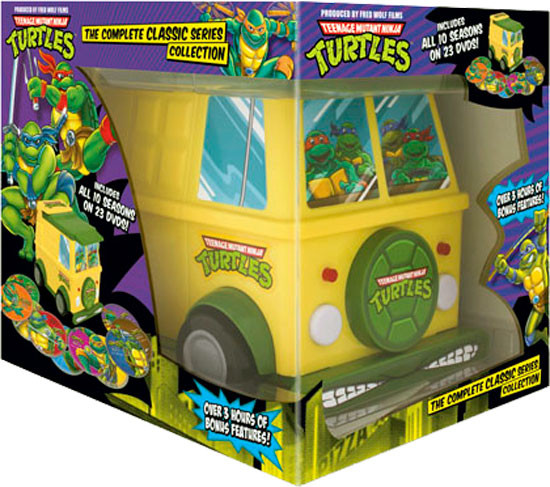 Classic Teenage Mutant Ninja Turtles Gets A Party Van DVD Set