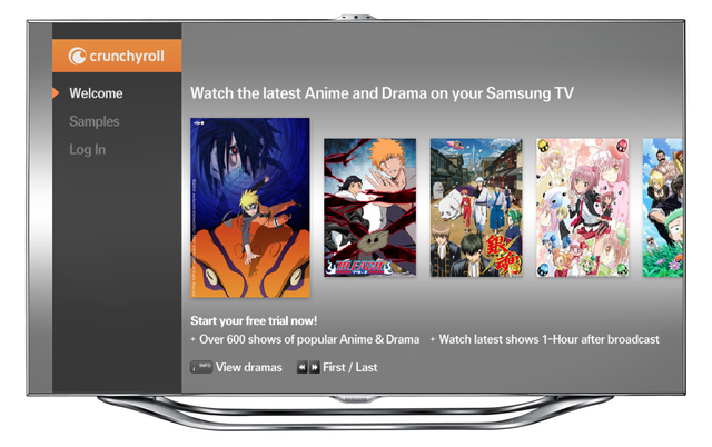 Samsung Smart TV Crunchyroll