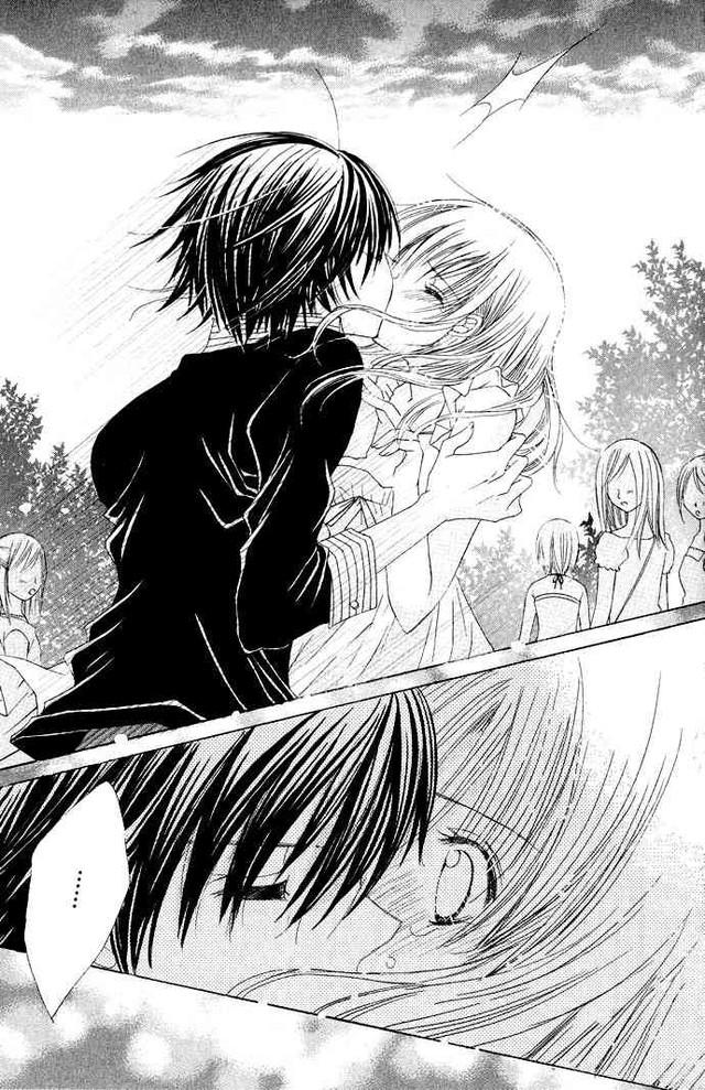 Cute anime kiss scene