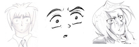 how to draw confused faces
