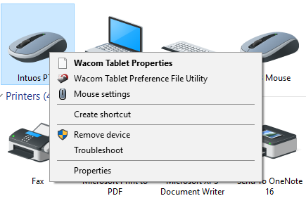 wacom intuos pen and touch driver not found
