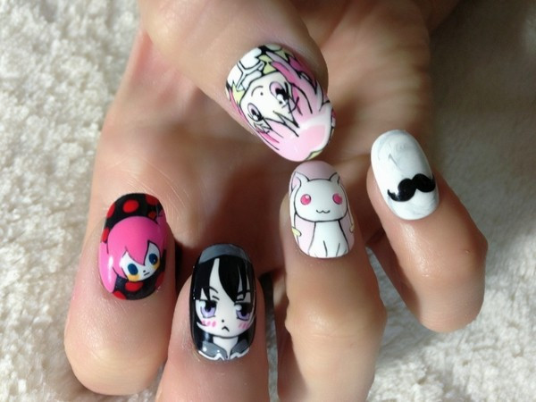 She also does non-anime stuff: - Crunchyroll - Incredible Anime-Themed Nail Art