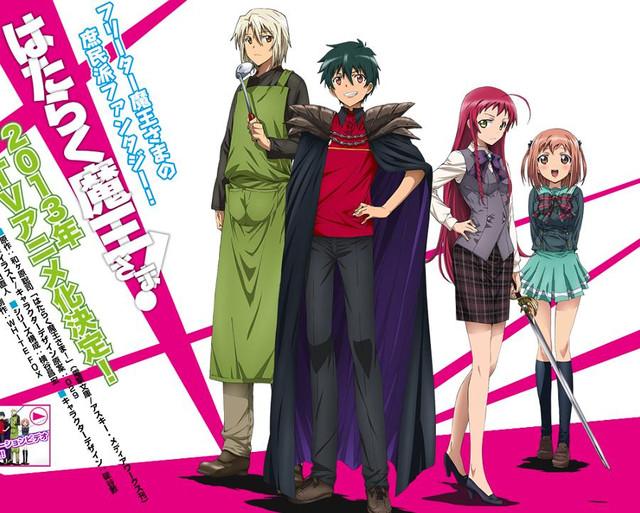 food a holic_Crunchyroll - Satan Takes a Fast Food Job in Hataraku Maou-sama! Anime Visual