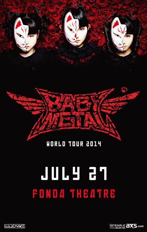 Babymetal tour dates in Perth