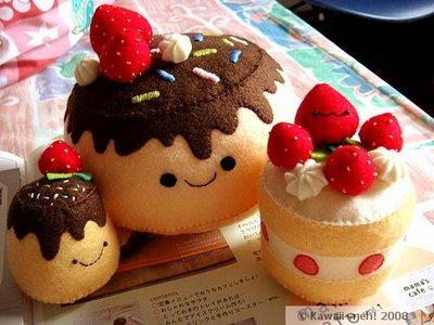 Here are some not edible cakes... but they are so cute that I have to ...