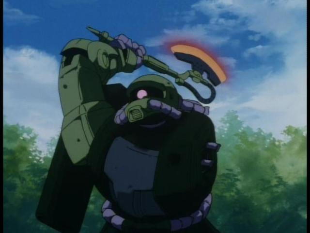 Crunchyroll A Quot Gundam Quot Weapon Heat Hawk Slices An Art