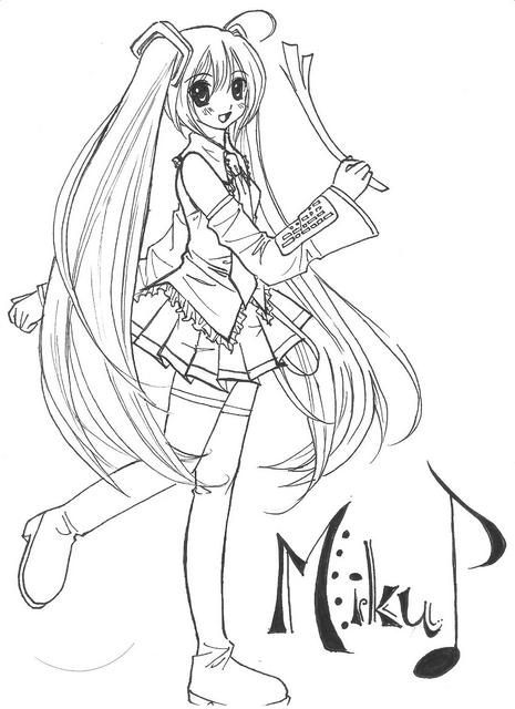 Crunchyroll Groups Hatsune Miku Page 12 Hatsune Miku Coloring Pages