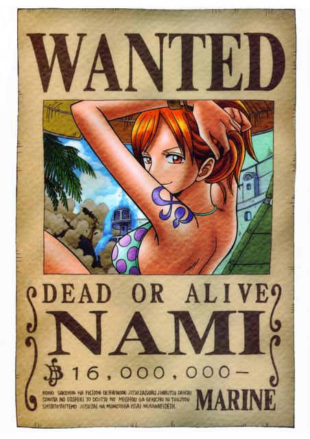 poster wanted nami