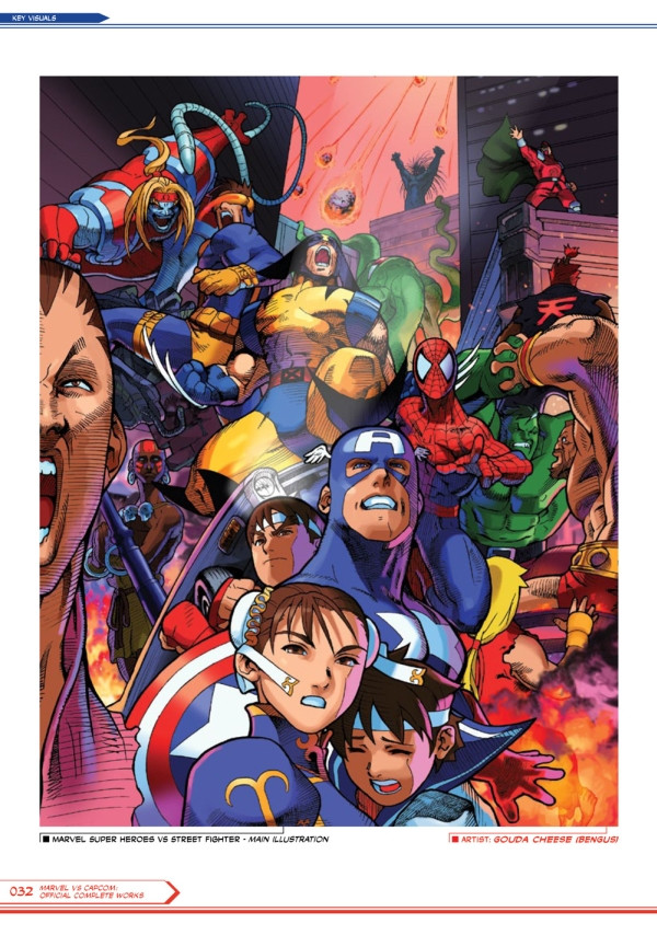 Crunchyroll Quot Marvel Vs Capcom Official Complete Works Quot Book To Debut At San Diego Comic Con