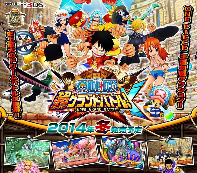 "One Piece Grand Battle 2: ""One Piece: Super Grand Battle! X"" 3DS Game"