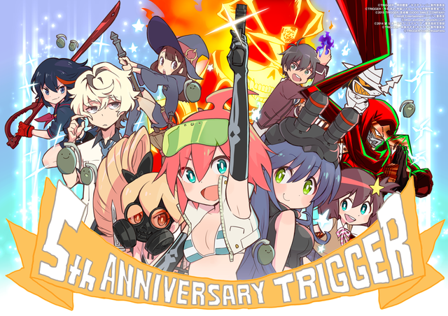 Trigger Anime Characters : Crunchyroll trigger s april monthly art prepares for