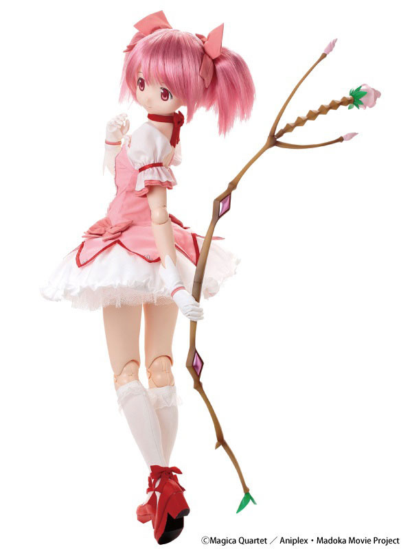 Of Madoka Kaname Featuring Newly Sculpted Soft Vinyl Head With Wig By Chizuru Puella Magi Costume Set Shoes And Bow Arrow Light Goes For A