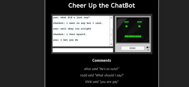 Rrrrthats5rs com cheer up the chatbot