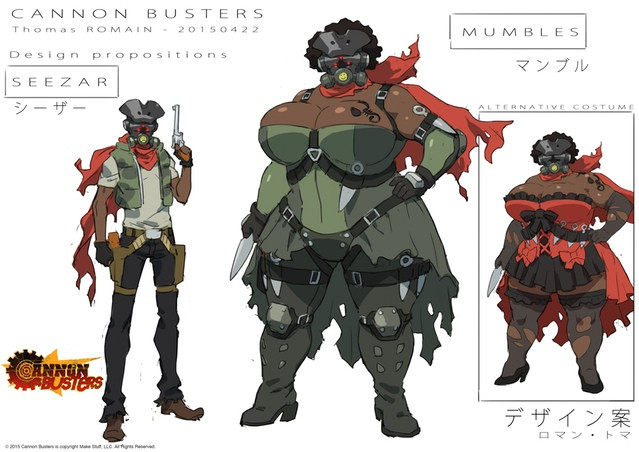 Crunchyroll Cannon Busters Announces Character Design By Gainax