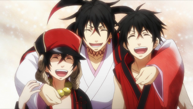 Anime Characters Laughing : Crunchyroll serpent slaying is a family affair in
