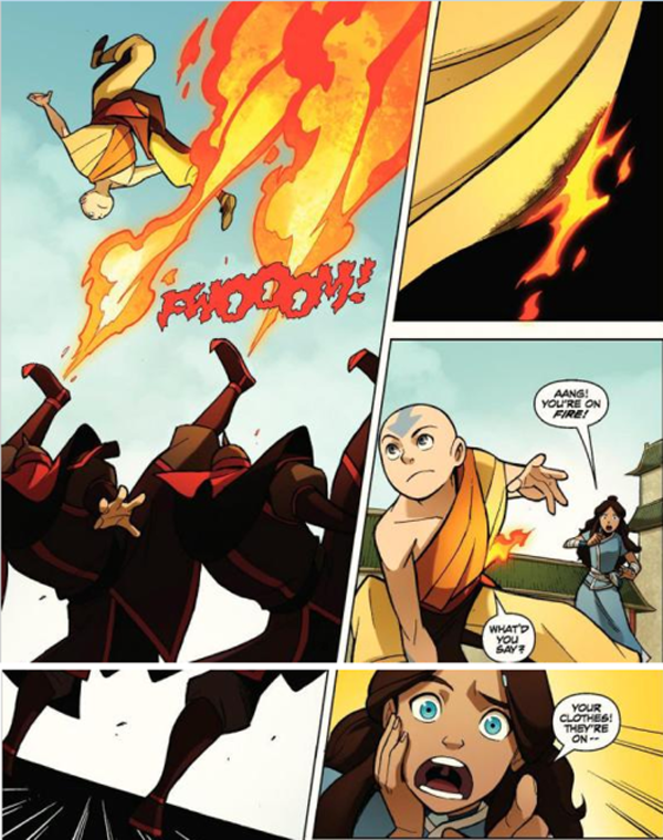 What shall Avatar the last airbender katara comic are