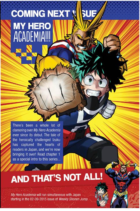 "Crunchyroll - English ""Shonen Jump"" to Introduce ""My Hero"