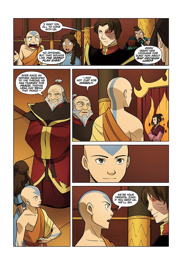 Crunchyroll video quot avatar the last airbender the search quot comic