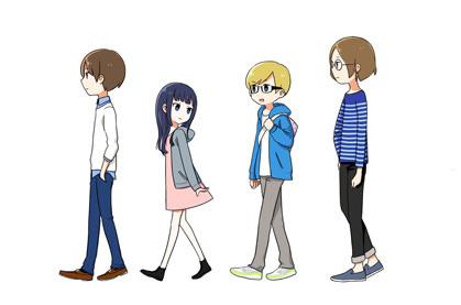 fhana versão anime