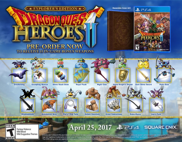 Dragon Quest Heroes II Day One DLC, PC, and Online Multiplayer