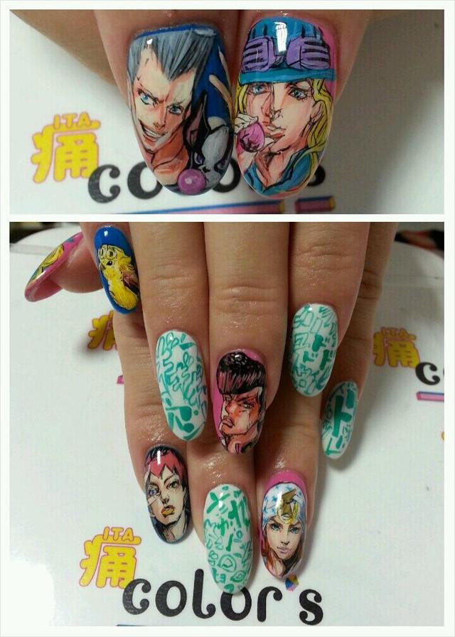 Hunter x hunter nail art