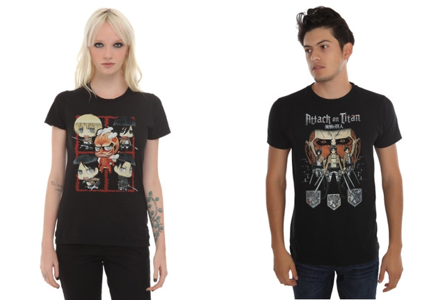 Hot Topic AoT shirts