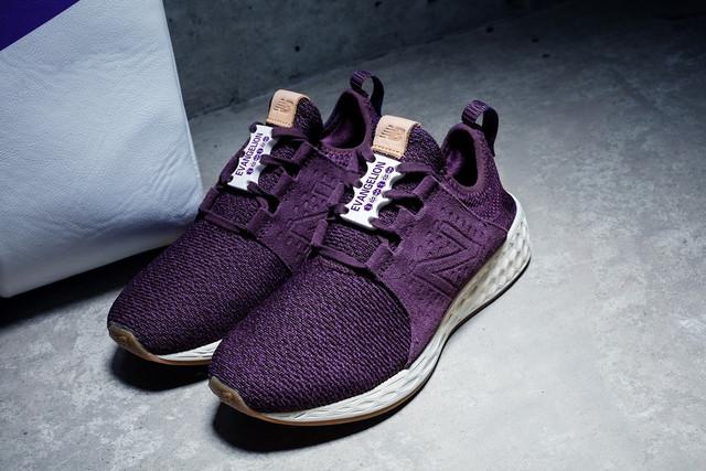New Balance x Evangelion Fresh Foam Cruz purple