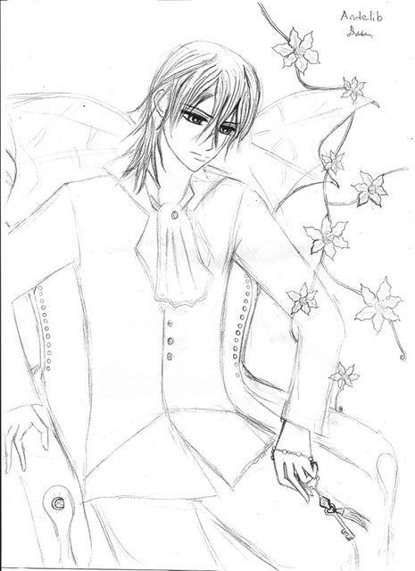 free coloring pages of vampire knight shiki