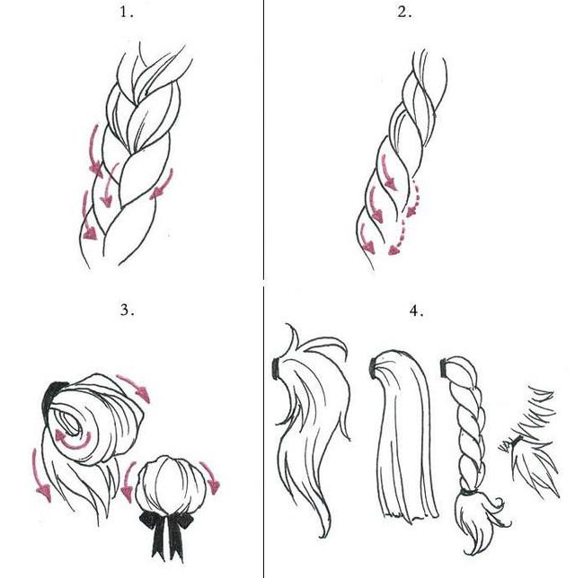 Anime Hair Drawing