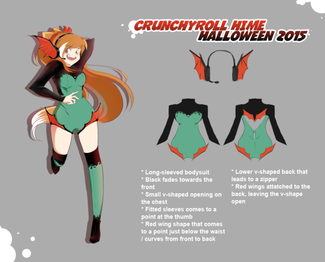 AND NOW The GRAND PRIZE WINNER Who Designed Crunchyroll Himes OFFICIAL HALLOWEEN COSTUME For 2015 Iss