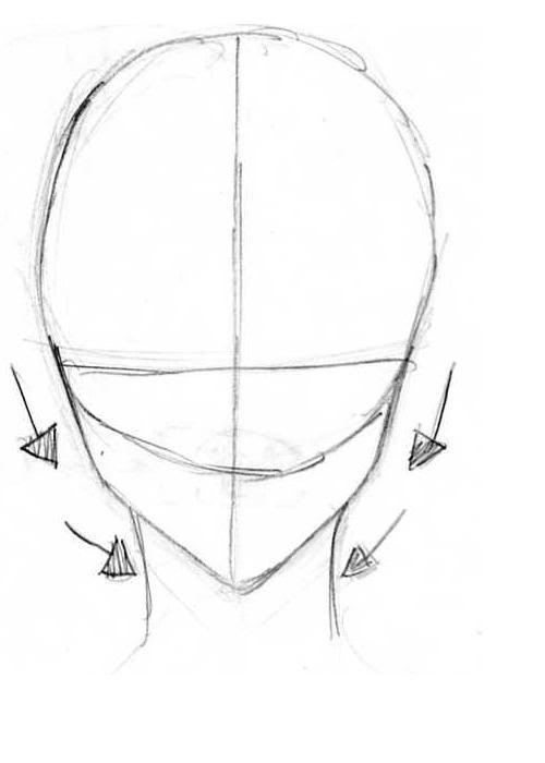 Draw The Eyes On Horizontal Line Halfway Between Top Of Head And Bottom Chin I Always First Important Are
