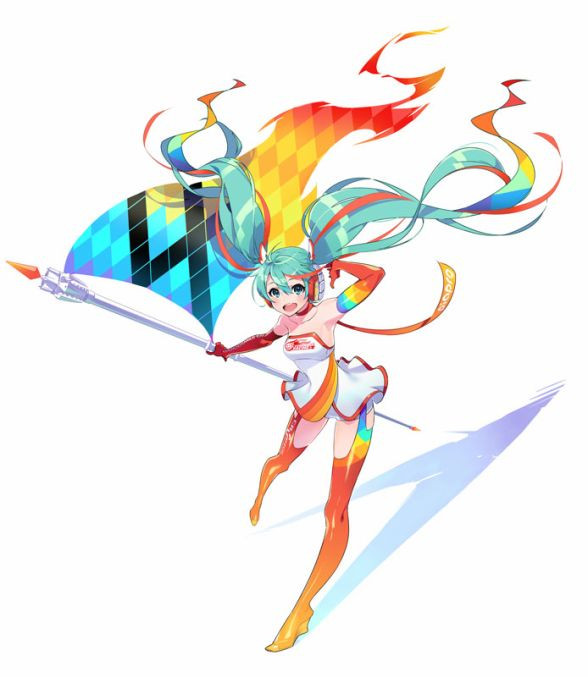 The 2016 Version Of Racing Miku A Spin Off Character That Re Imagines Crypton Future Medias Vocaloid Virtual Idol Hatsune As Race Queen Mascot