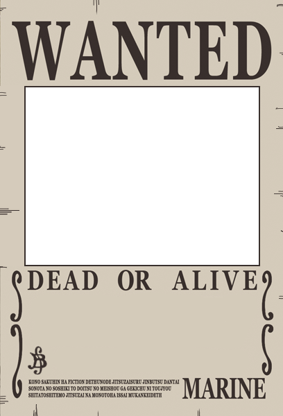 Crunchyroll groups one piece gang for Wanted pirate poster template