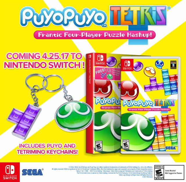 Puyo Puyo Tetris Coming to Nintendo Switch, PS4 in April