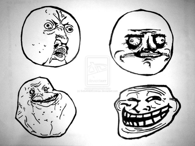 types of troll faces