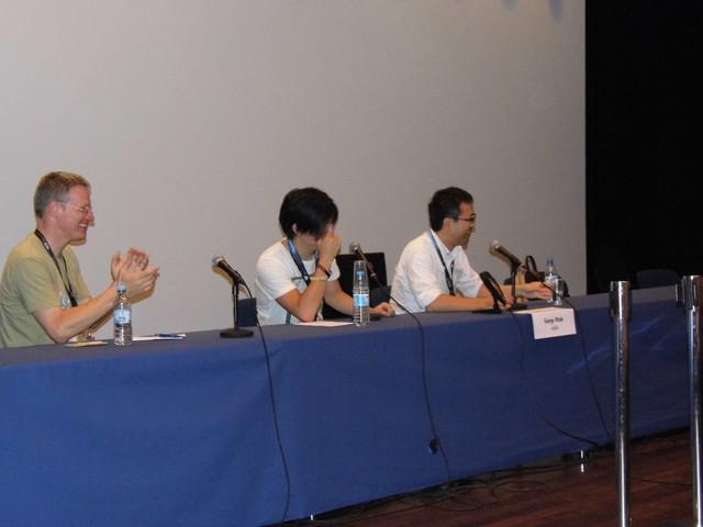 George Wada durante a apresentação