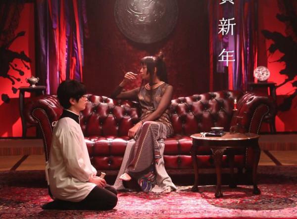 Yuuko y Watanuki en un lunes cualquiera.