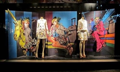Crunchyroll , VIDEO JoJo\u0027s Bizarre Gucci Store Display