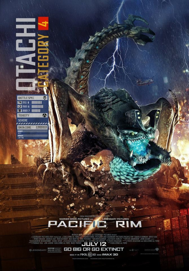 "Crunchyroll - Latest ""Pacific Rim"" Poster Puts the ... Pacific Rim Kaiju Category 3"