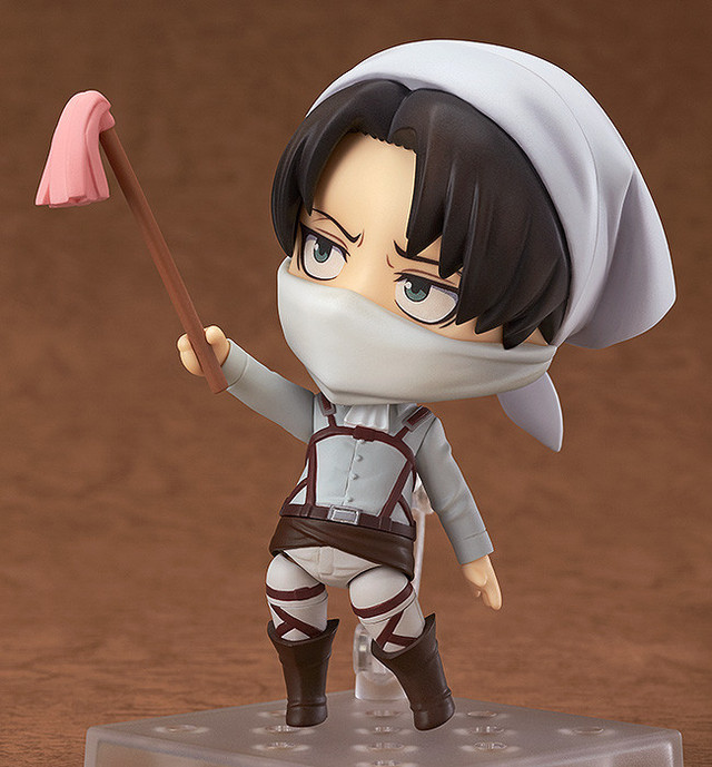 attack on titan levi nendoroid cleaning