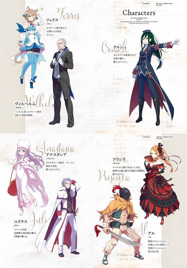 crunchyroll re zero anime cast additions listed