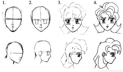 There Is No One Right Way To Go About Drawing Japanese Style Characters But Here Are Some Steps You Might Want Try For A Start